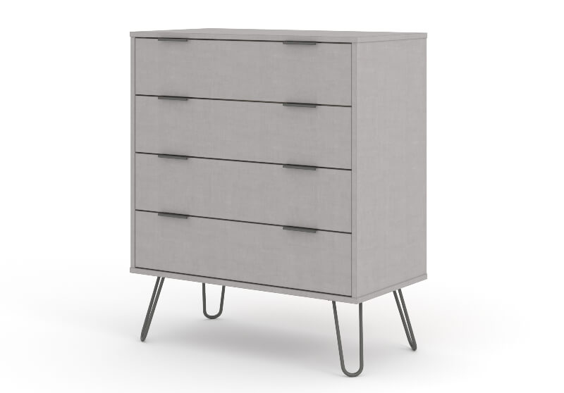 Augusta Grey 4 Drawer Chest of Drawers
