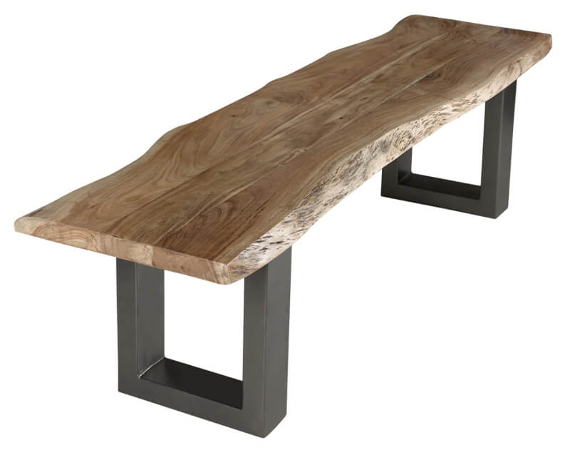 Baltic Live Edge Large Bench 175 cm - Wood & Metal