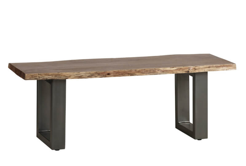 Baltic Live Edge Medium Bench 125 cm - Wood & Metal