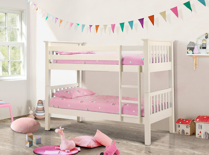 Barcelona Stone White Bunk Beds