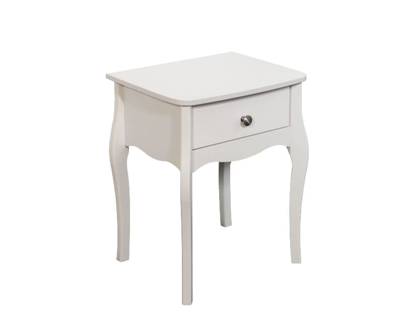 Baroque White Nightstand