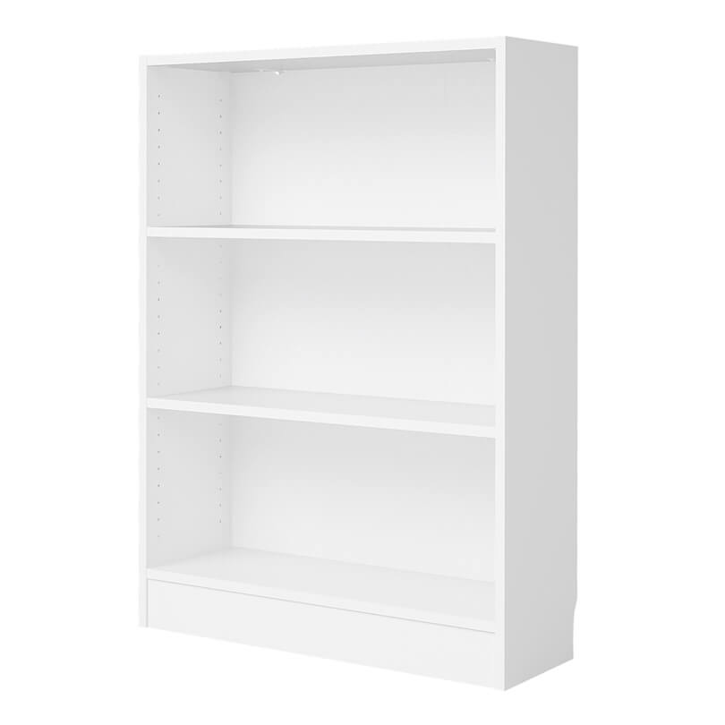 Basic Low Wide Bookcase in White