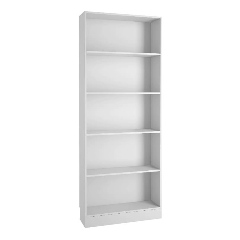 Basic Tall Wide Bookcase in White