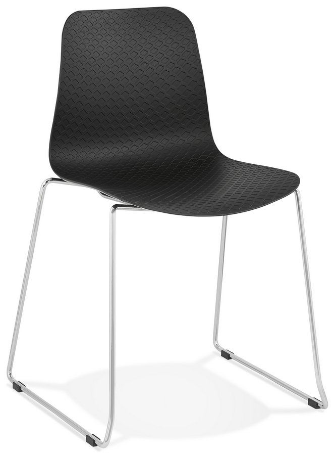 Bee Design Plastic Seat Chair with Chrome Legs