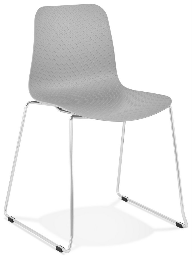 Bee Design Pastel Plastic Seat Chair with Chrome Legs