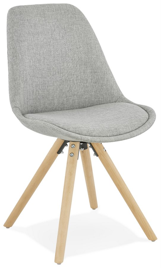 Brasa Modern Grey Dining Chair with Pyramid Style Legs