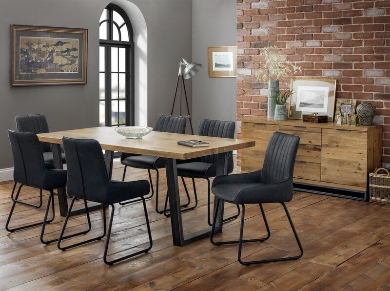 Amazing Brooklyn Oak Dining Table With 6 Soho Dining Chairs Download Free Architecture Designs Embacsunscenecom