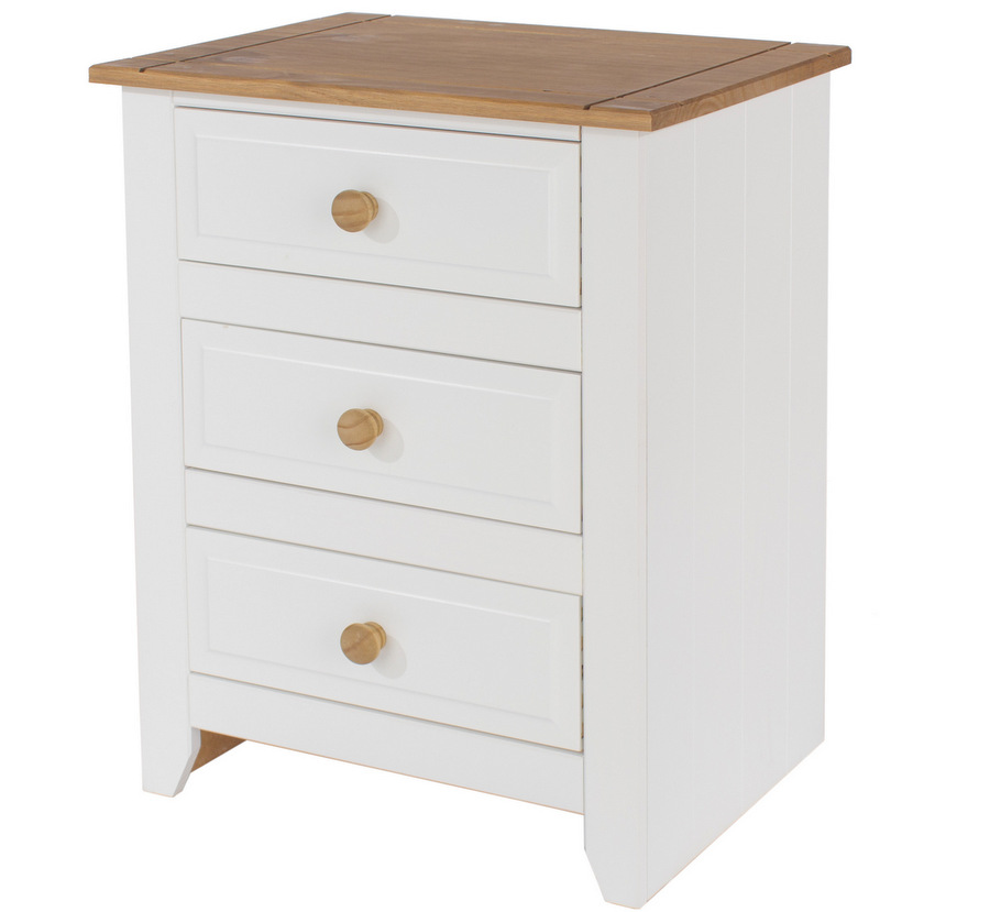 Tremendous Capri White Bedside Table Three Drawers Download Free Architecture Designs Ferenbritishbridgeorg