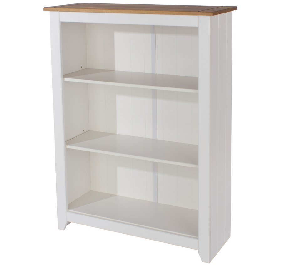 Capri White Low Bookcase