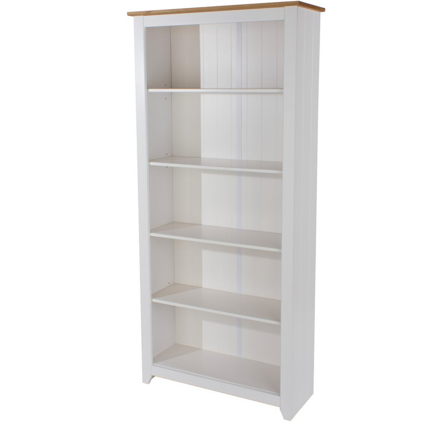 Capri White Tall Bookcase