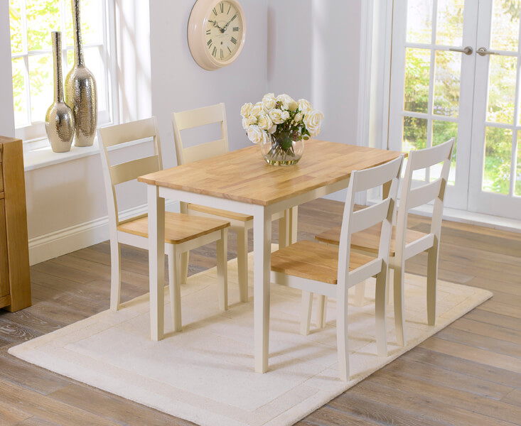 Chichester 115cm Dining Table with Four Chairs