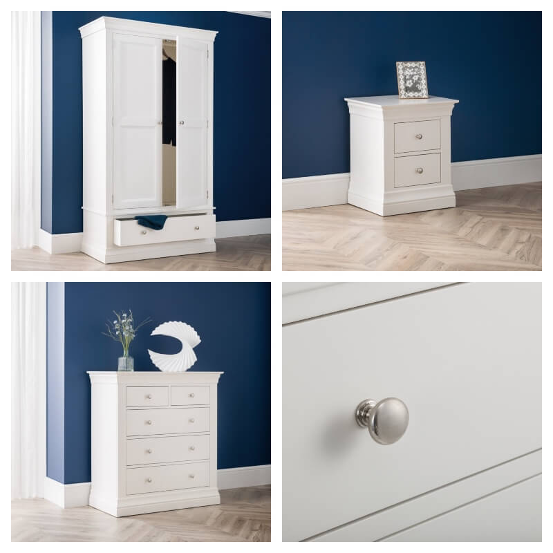 Clermont White 3 Piece Bedroom Furniture Package