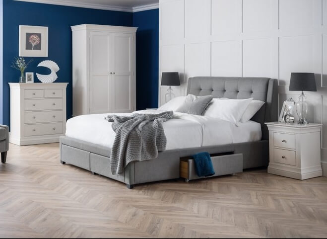 Clermont White 3 Piece Bedroom Furniture Set with Fullerton Bed