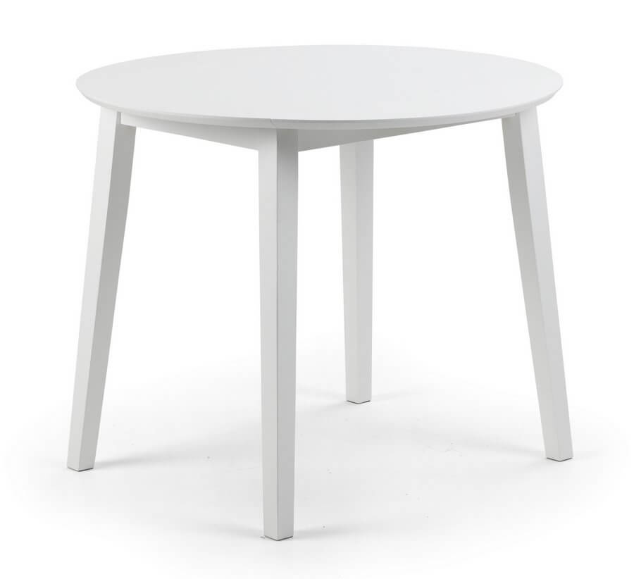Abdabs Furniture Coast White Drop Leaf Dining Table