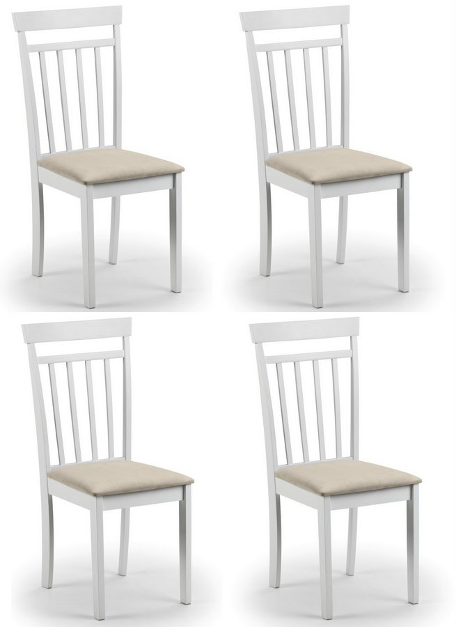 Coast White Dining Chairs - Set of 4