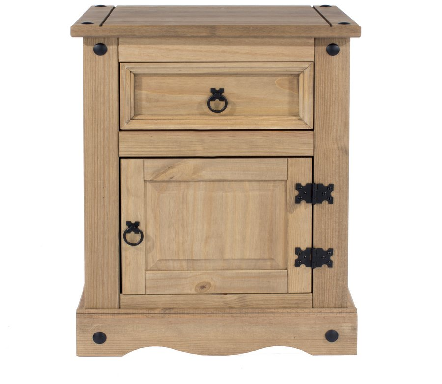Corona Pine Bedside Table