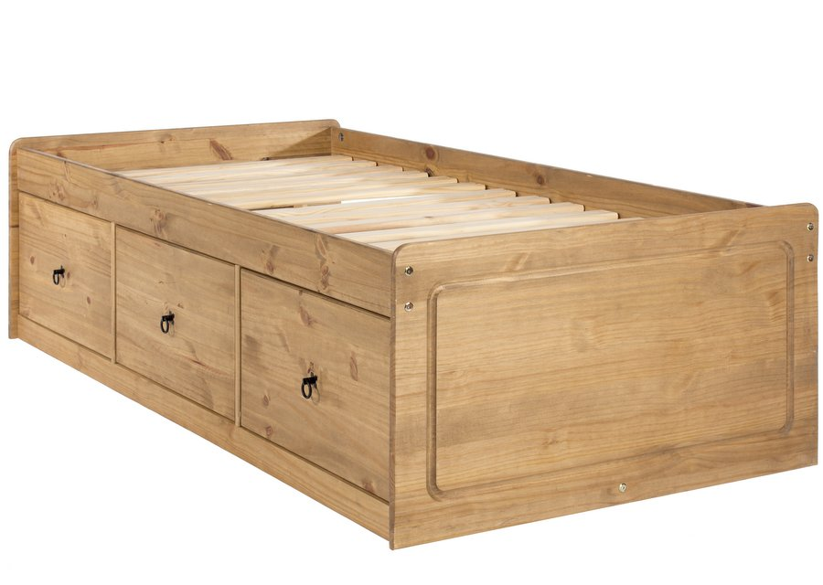 Corona Pine Cabin Bed with Three Drawers