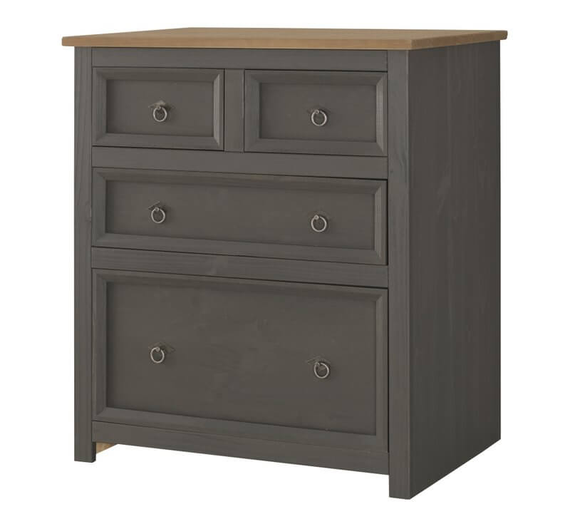 Corona Carbon Grey 2 + 2 Drawer Chest