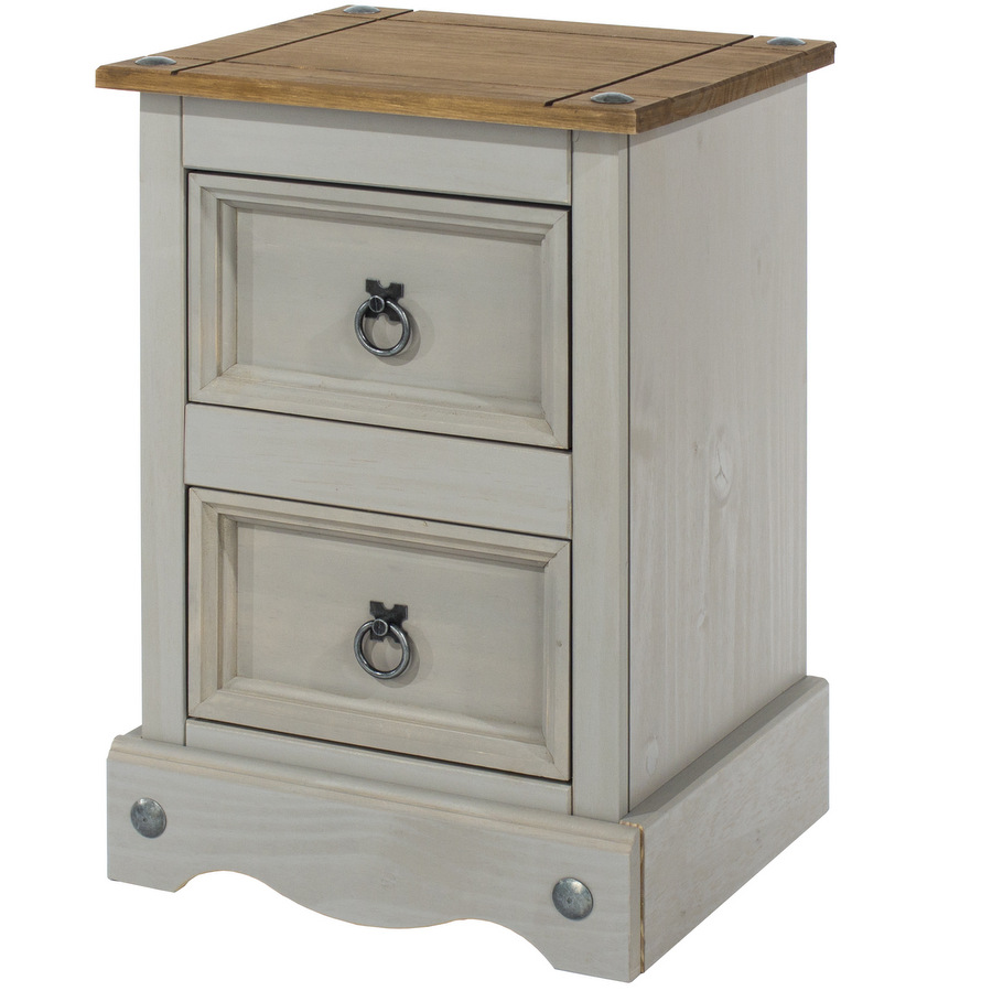 43fbe6eb2cb3 Abdabs Furniture - Corona Grey Washed Petite Bedside Cabinet