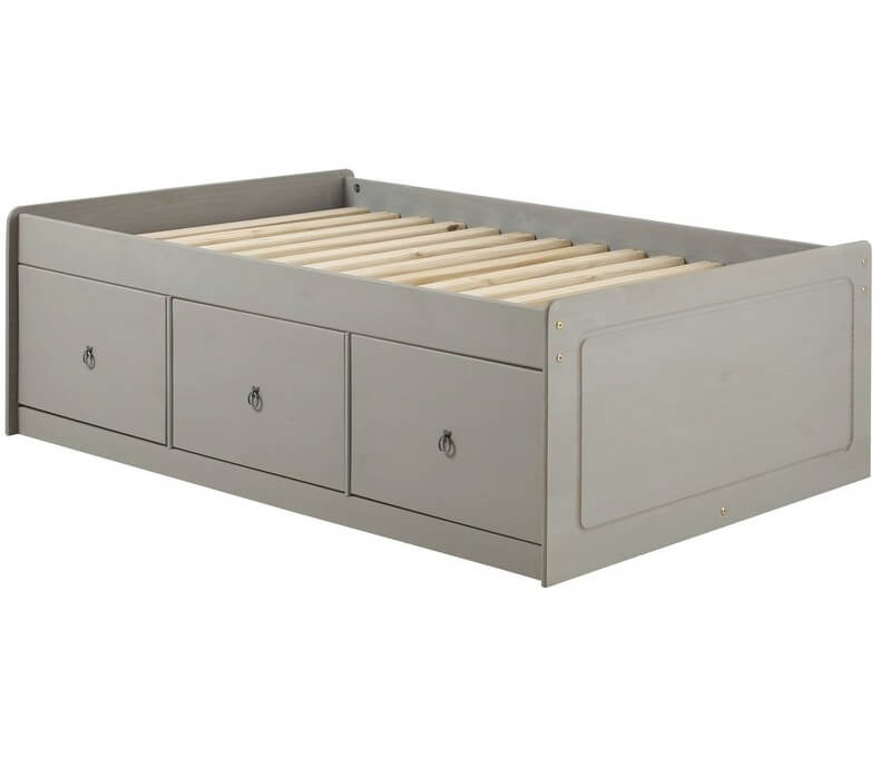 6cbbb79af5e5 Abdabs Furniture - Corona Grey Washed Single Cabin Bed with Drawers