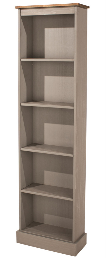 bookcase home open furniture shelf tiered of america distressed garden cassidy grey product