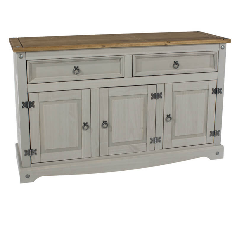 6e30e398a752 Abdabs Furniture - Corona Grey Washed Medium Sideboard
