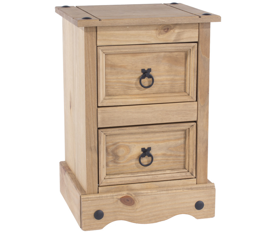 abdabs furniture corona pine petite bedside table