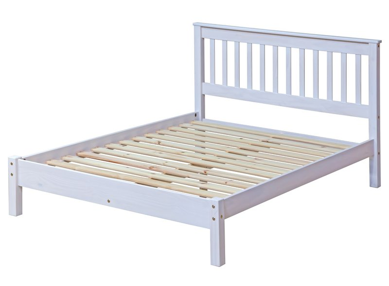 Corona Whitewash Double Bed Frame