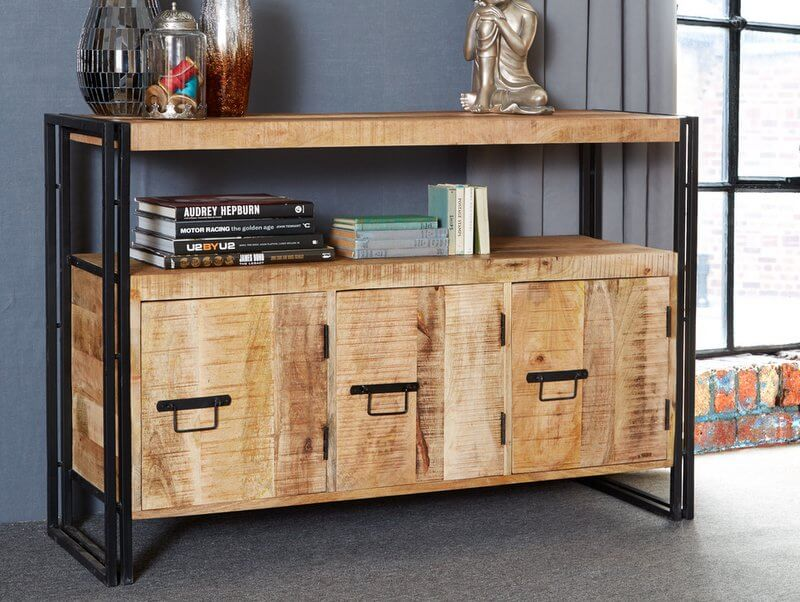 Abdabs Furniture Cosmo Industrial Sideboard Reclaimed Wood Dark