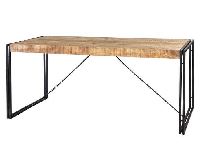Cosmo Industrial Reclaimed Wood & Metal Dining Table - 150 cm