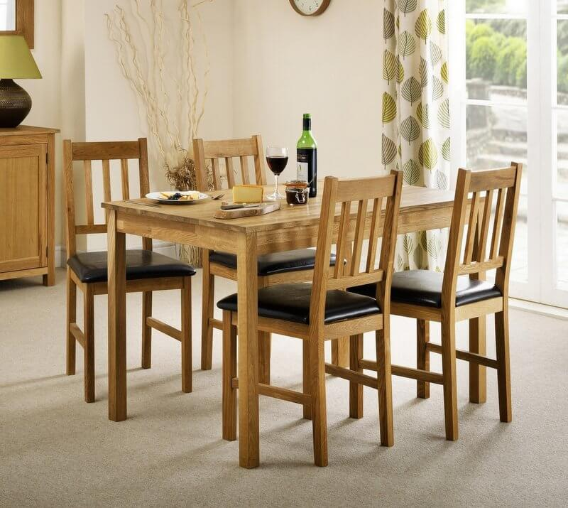 Coxmoor Solid Oak Rectangular Dining Table & 4 Chairs - Set