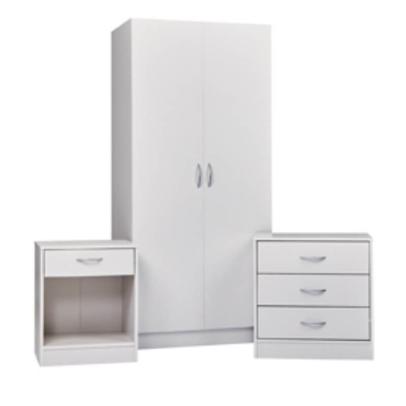 Delta 3 Piece Bedroom Set - White
