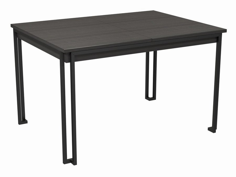 Federico Black Metal Framed Extending Dining Table