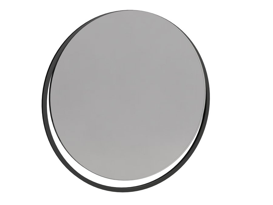Federico Circular Wall Hanging Mirror with Black Frame