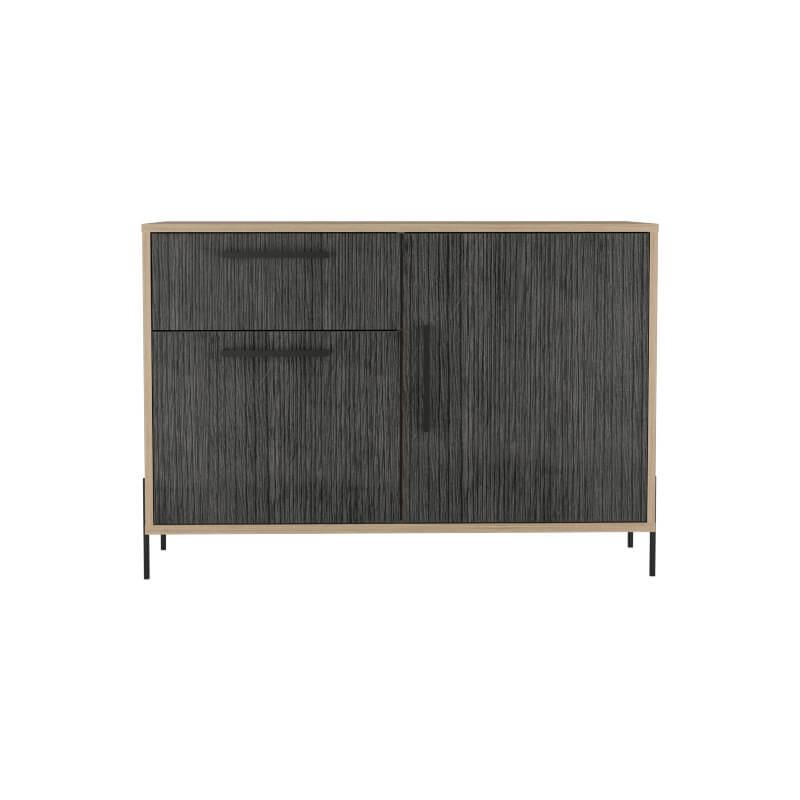 Harvard Washed Oak & Grey Small Sideboard with 2 Doors & 1 Drawer