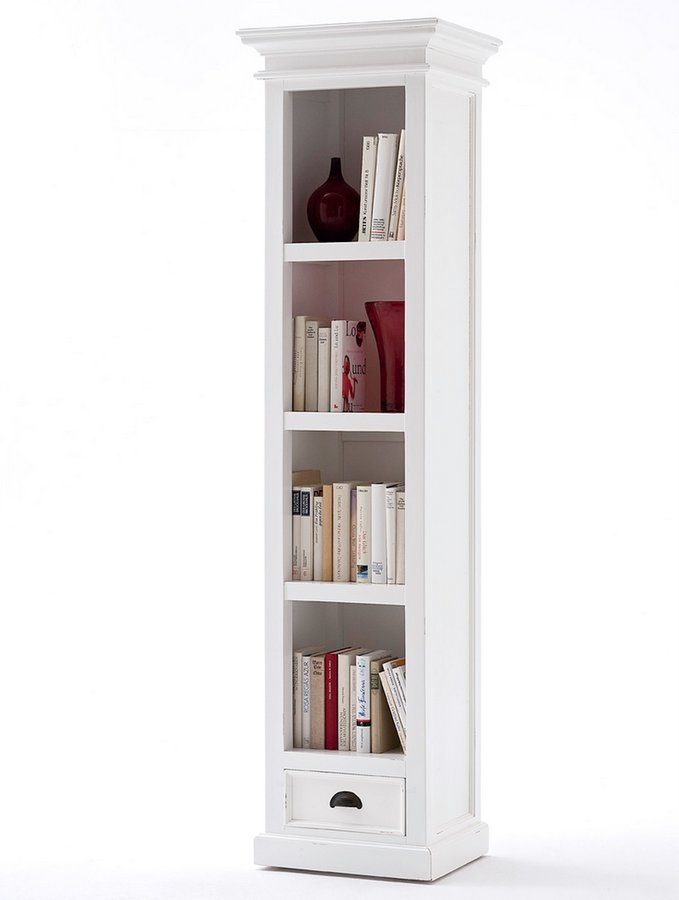 Halifax White Bookshelf With Drawer