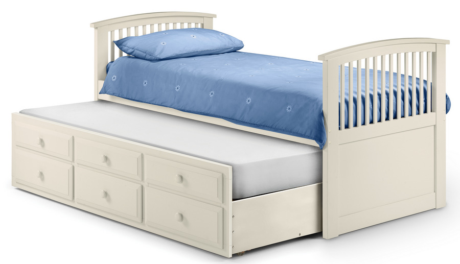 Hornblower Cabin Bed and Mattresses - Stone White