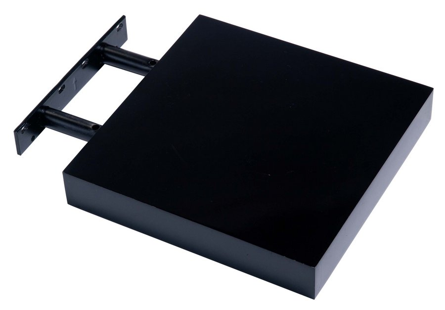 hudson high gloss black 240 floating shelf