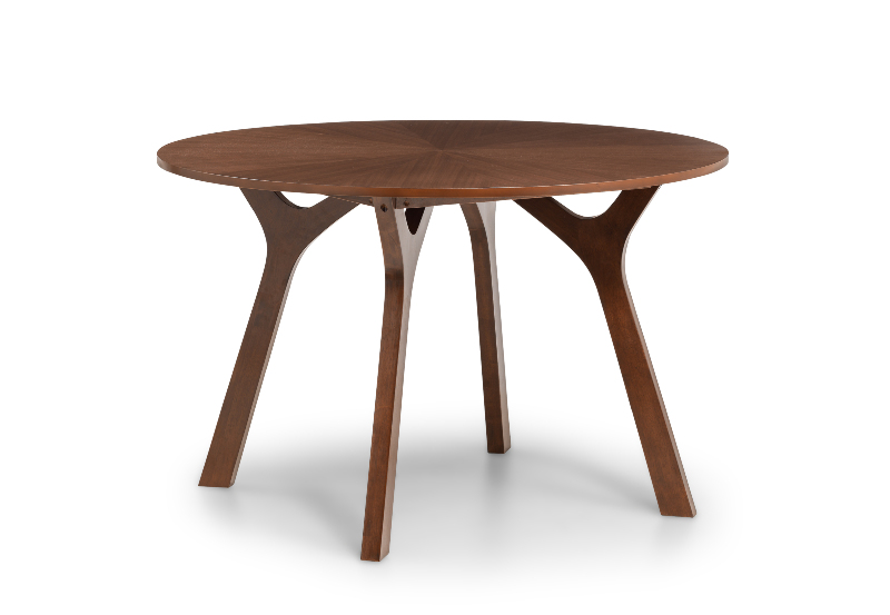 Huxley Round Walnut Dining Table