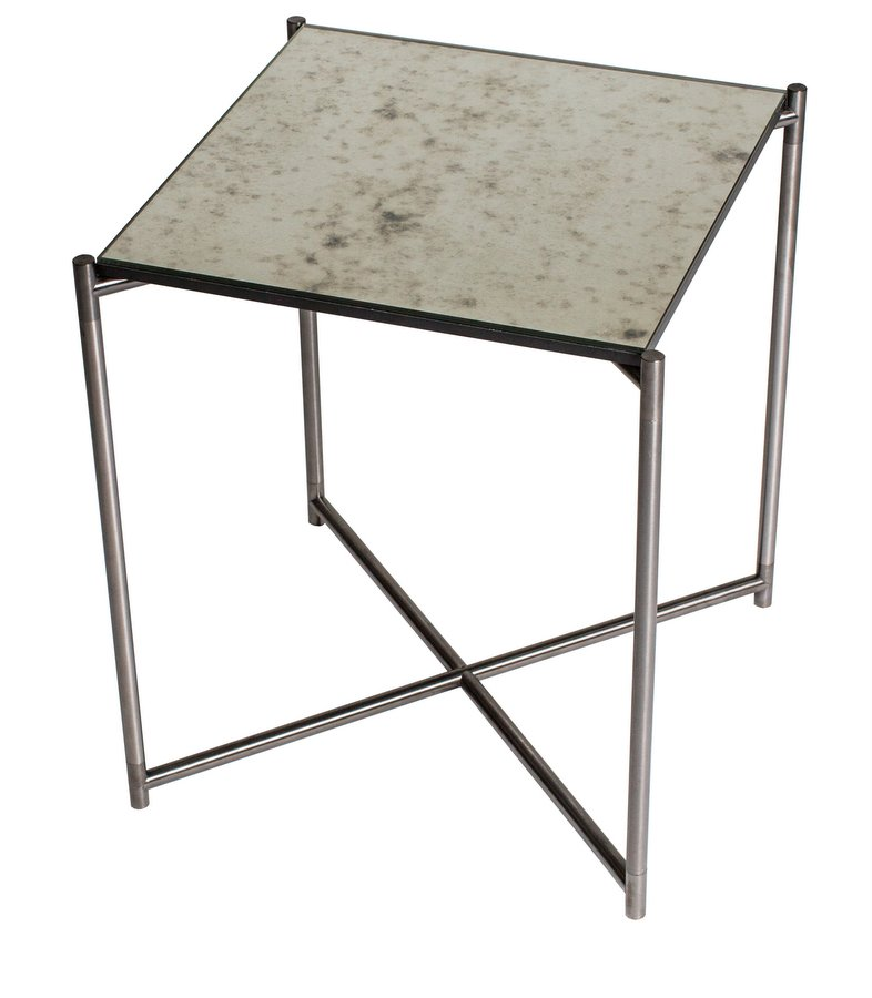 Iris Gun Metal Side Table