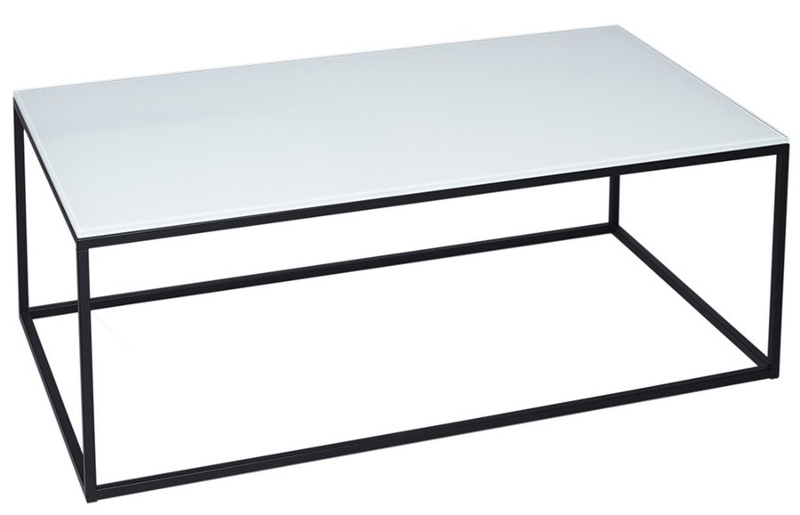 Abdabs Furniture Kensal Rectangular Coffee Table Glass Top