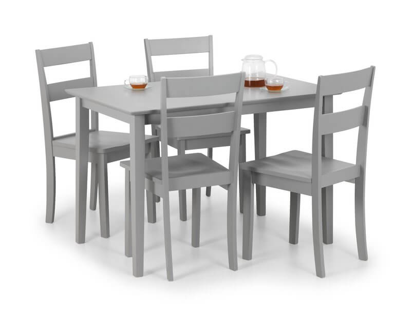 Kobe Grey Rectangular Dining Table & 4 Chair Set