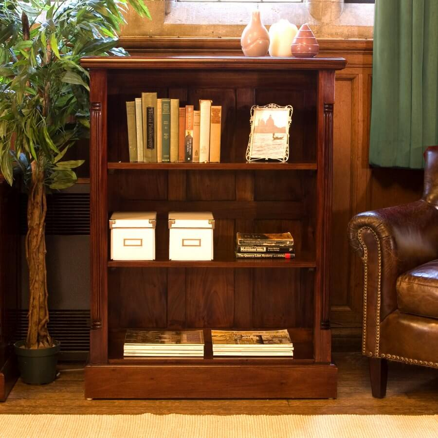 La Roque Mahogany Low Open Bookcase