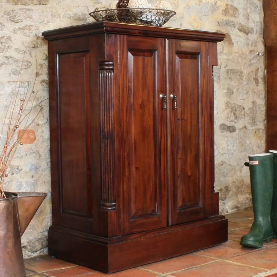 La Roque Mahogany Shoe Cupboard