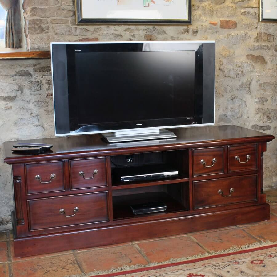 La Roque Mahogany Widescreen TV Cabinet