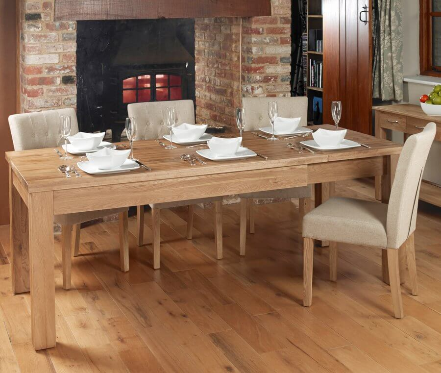 Mobel Oak Extending Dining Table