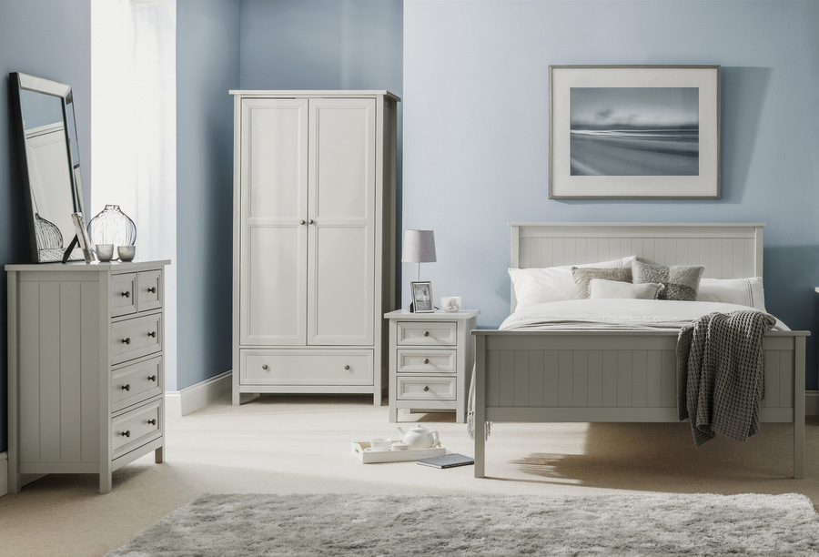 Abdabs Furniture Maine Dove Grey Bedroom Furniture Set