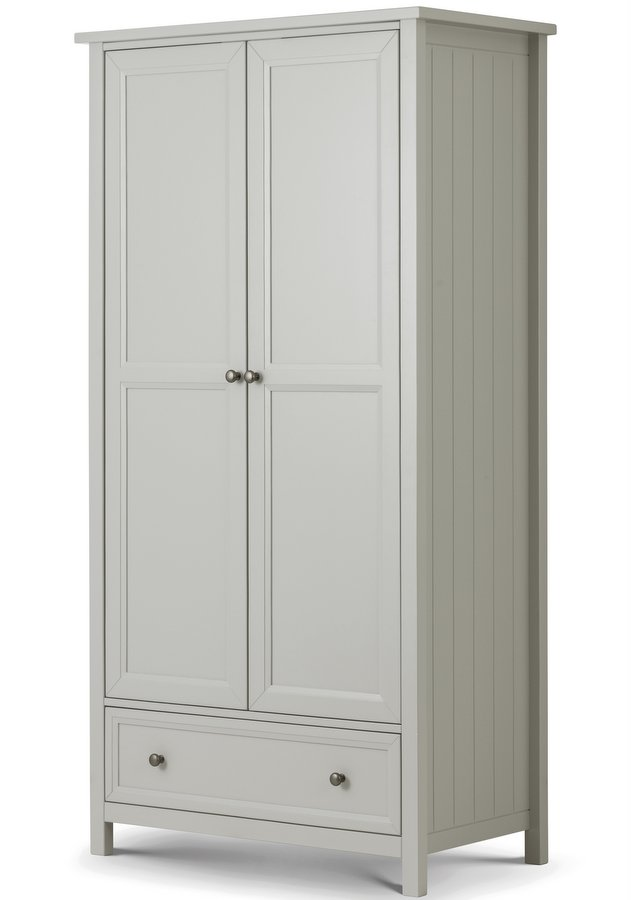 Maine Dove Grey 2 Door Combination Wardrobe
