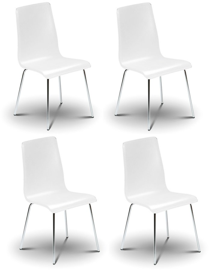 Mandy White Dining Chairs - Set of 4