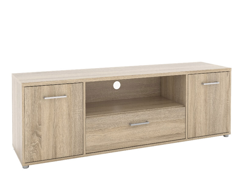 Match TV Unit 3 Drawers 1 Shelf in Oak